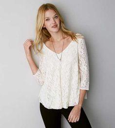 AEO Lace Swing T-Shirt