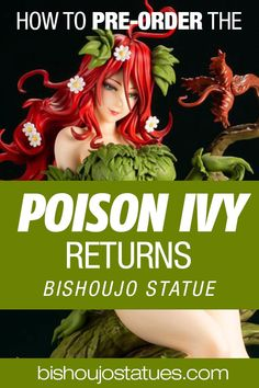 The DC Comics Poison Ivy Returns bishoujo statue from Kotobukiya is now available for pre-order! Click the link to see more photos and discover where to purchase this beautiful statue! Bishoujo Statue, New Week, Poison Ivy, News, Statues, Link, Dc Comics, Photos, Beautiful