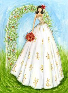 Wedding dress ~ Bella Pilar