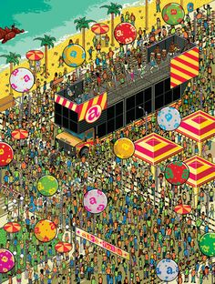Pixel art-like drawings by Gus Morais