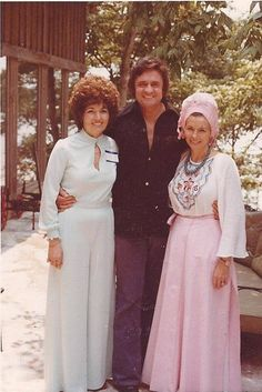 Johnny Cash, June Carter Cash and friend Barbara Sather