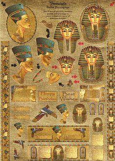 LAMINAS PARA DECOUPAGE 2 (pág. 48)   Aprender manualidades es facilisimo.com Ancient Egypt Hieroglyphics, Ancient Egypt History, Egyptian Symbols, Egyptian Art, Ancient Civilizations, Ancient Mysteries, Ancient Artifacts, Egyptian Drawings, Old Egypt