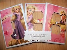 DISNEY TANGLED RAPUNZEL - KIDS ROOM - CUSTOM MADE SWITCHPLATE COVERS