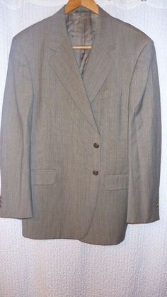 95df182e40fab5 Fendi Grey 48L Wool Sport Coat EUC  fashion  clothing  shoes  accessories