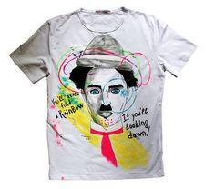 Charlie Chaplin White Men's T-shirt