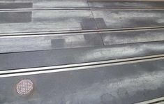 Close up of weathered Scalextric track