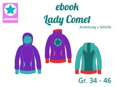 Ebook Hoodie Pullover Lady Comet Gr.34 - 46