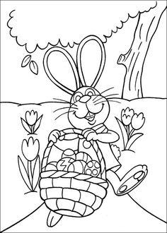 Peter Cottontail Kleurplaten voor kinderen. Kleurplaat en afdrukken tekenen nº 26