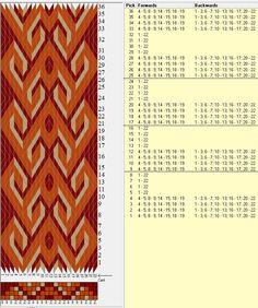 22 tarjetas, 3 colores, repite cada 8 movimientos // sed_356 diseñado en GTT༺❁