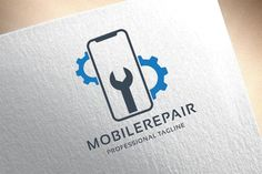 Mobile Repair Logo by tkent on Minimalist Business Cards, Business Card Logo, Business Card Design, Mobile Phone Logo, Logo Desing, Ppt Design, Printable Business Cards, Service Logo, Branding