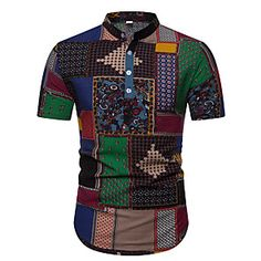 Shopping Cart | LightInTheBox Cheap Mens Shirts, Mens Shirts Online, Casual Shirts For Men, Casual Tops, Men Casual, Hawaiian Outfit Men, African Party Dresses, Blue And White Shirt, Style Simple