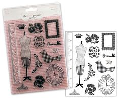 Advantus+-+The+Girls+Paperie+-+Paper+Girl+Collection+-+Clear+Acrylic+Stamps+-+Paper+Girl+at+Scrapbook.com