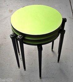 Mid Century Nesting Tables Danish Modern Vibrant Green