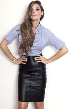 Leather Skirts.....Leather is in
