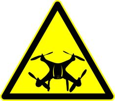 Drone Warning - Peligro Dron by @laftello, Drone WarningPeligro Dron, on @openclipart