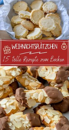 Delicious Cookie Recipes, Yummy Cookies, Baking Recipes, German Christmas Cookies, Best Christmas Recipes, Sweet Bakery, World Recipes, Confectionery, Food And Drink