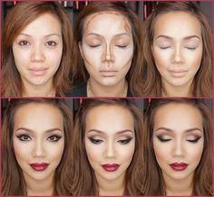 "Correctores - Maquillaje ""TEORIA DEL VISAGISMO"" contour :: Andrea Azores"