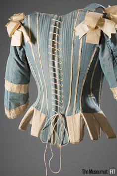 Corset (image 2) | possibly Europe | 1770 | silk, whalebone | Museum at FIT | Museum #: P82.1.16