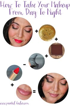 A few easy steps to take your makeup from day to night -  perfect for Holiday parties!