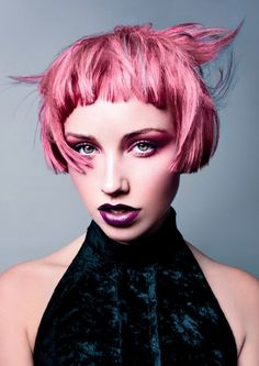 CHI Chromashine Bright Pastel Blue, Bright Pastel Pink, and Hot Fuchsia Hair Color by Alexandra Kontos #CHIcolor