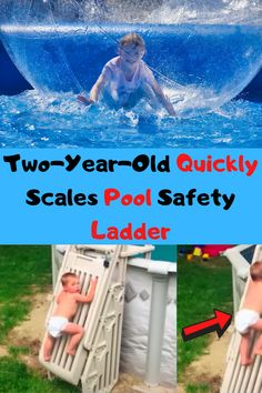 Two-Year-Old Quickly Scales Pool Safety Ladder Pet Videos, Funny Animal Videos, Funny Animals, Beautiful Moon, Beautiful Flowers, Safety Ladder, Beauty Tips, Beauty Hacks, Stylish Dresses For Girls