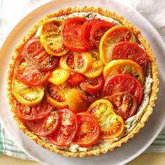 Heirloom Tomato Pie Potluck Desserts, Church Potluck Recipes, Potluck Dishes, Potluck Meals, Dinner Recipes, Dessert Food, Food Menu, Brunch Recipes, Pot Luck