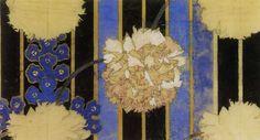 walzerjahrhundert:  Charles Rennie Mackintosh,Carnations and Stripes,textile design,1915
