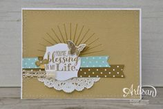 you're a blessing in my life cardS Kinda Eclectic ~ Sleepless Stamper Rubber Stamping Techniques, Cardmaking And Papercraft, Card Making Inspiration, Stampin Up Cards, Hand Stamped, Birthday Cards, Artisan, Paper Crafts, Crafty