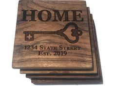 Sailing Gifts, Real Estate Gifts, Whiskey Gifts, New Homeowner Gift, Whiskey Decanter, Nautical Gifts, Acacia Wood, New Home Gifts, Drink Coasters