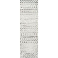 nuLOOM Geometric Moroccan Beads Grey Runner Rug   Havenly
