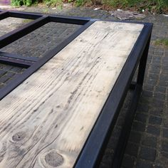 Reclaimed wood brickmaker's coffee table