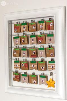 Do it yourself christmas countdown calendar craft advent create your own countdown to christmas advent calendar diy solutioingenieria Choice Image