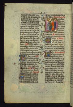 Missal of Eberhard von Greiffenklau, Christ addresses the Two Disciples sent by John the Evangelist, Walters Manuscript W.174, fol. 8v by Walters Art Museum Illuminated Manuscripts, via Flickr
