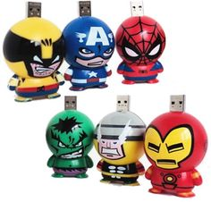 Marvel Figurines DIY USB Memory Sticks