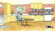 Mordecai and Trashboat❤
