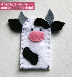 Arlette, la marionnette de doigt vache | La cabane à idées