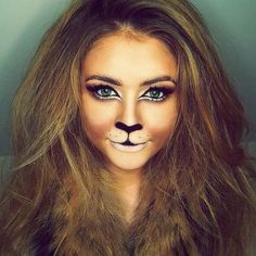 15 Halloween cat face makeup ideas for girls and women 2019 - make up ideas , Lion Makeup, Animal Makeup, Cat Face Makeup, Kids Cat Makeup, Cat With Makeup, Crazy Makeup, Makeup Geek, Tiger Makeup, Werewolf Makeup