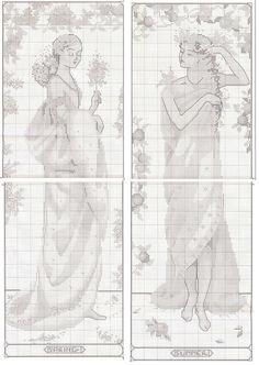 point de croix maiden of the seasons - cross stitch part 2