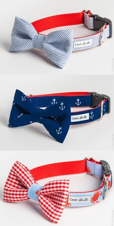 Nautical dog collars, even though none of my 11 animals ( not at the same time ha ) have never been boys...super cute!