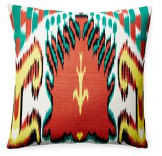 Leela 20x20 Cotton Pillow, Multi  Love the pattern and colors on this