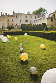 To add a modern touch to the Evergreen's grounds, paper lanterns were scattered at random. Photo: Vantage Pictures.