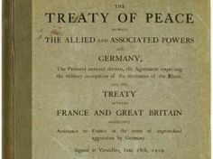 Peace of Paris established the League of Nations after WWI