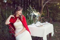 Slip away and into a dreamy storybook styled shoot scene, inspired by the tale of Red Riding Hood and photographed by the lovely Kathrin Gallova. Red Riding Hood, Stunning Dresses, Little Red, Fairytale, Inspired, Model, Photography, Beautiful, Style