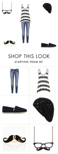 """Triste en noir .."" by vii-ck-yy ❤ liked on Polyvore featuring Vivienne Westwood, TOMS, Wet Seal and Z Designs"