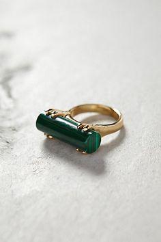 Malachite wedge ring #anthrofave