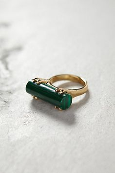 Malachite Wedge Ring - anthropologie.com #anthroregistry