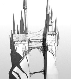 Art from Santiago Montiel, Concept artist, Background art director and illustrator. Art Director, Installation Art, Batman, Graphic Design, Fantasy, Superhero, Black And White, Landscape, Architecture