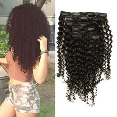 62.30$  Buy here - http://ali2gd.worldwells.pw/go.php?t=32618916090 - 6A Peruvian Clip In Human Hair Extensions Rosa Queen Hair Products Kinky Curly Clip In Hair Extensions For Black Women 7pcs 120g