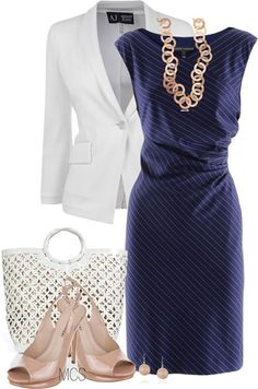a chic uniform: working mom (note: change into a pair of flats or wedges and a denim jacket if you have to be on the ball field or at a casual event after work) Fashion Over 50, Work Fashion, Stylish Work Outfits, Cute Outfits, Denim Jacke, Casual Chique, Work Attire, Mode Inspiration, Mode Style