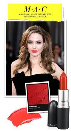 Angelina Jolie wears M.A.C Cosmetics Russian Red Lipstick @ The Oscars
